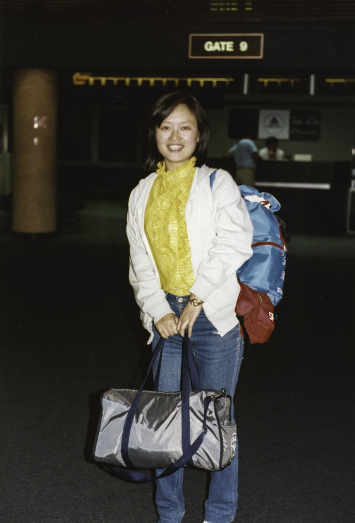 Lily Tang Williams arrives in America from China in 1988