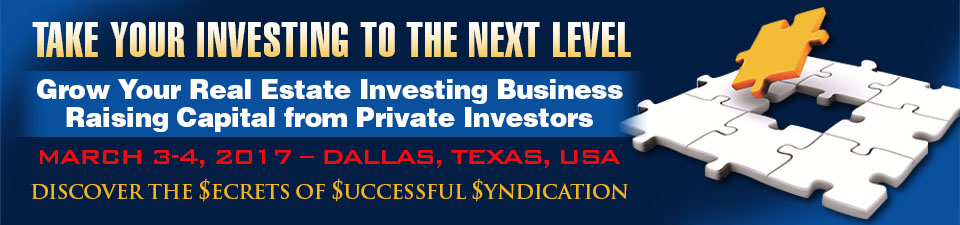 Discover how to raise money from investors to invest in real estate at the Secrets of Successful Syndication seminar