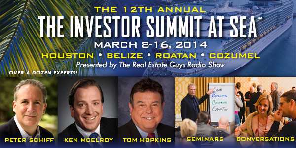 Join The Real Estate Guys for the 2014 Investor Summit at Sea