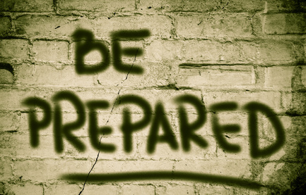 The writing on the wall says to be prepared