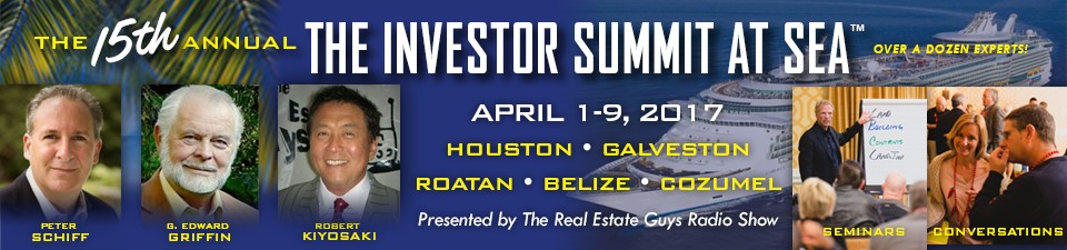 Rich Dad Poor Dad author Robert Kiyosaki joins Peter Schiff and G. Edward Griffin for The Real Estate Guys 2017 Investor Summit at Sea