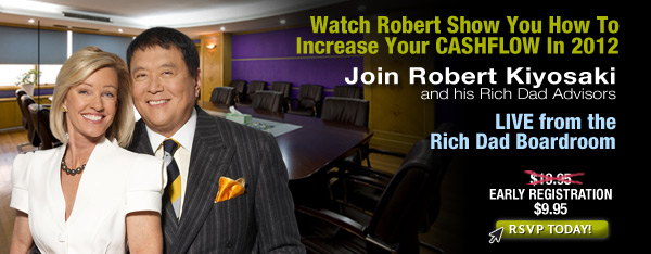robert kiyosaki, kiyosaky, boardroom, live stream, rich dad boardroom, cash flow, racih dad poor dad